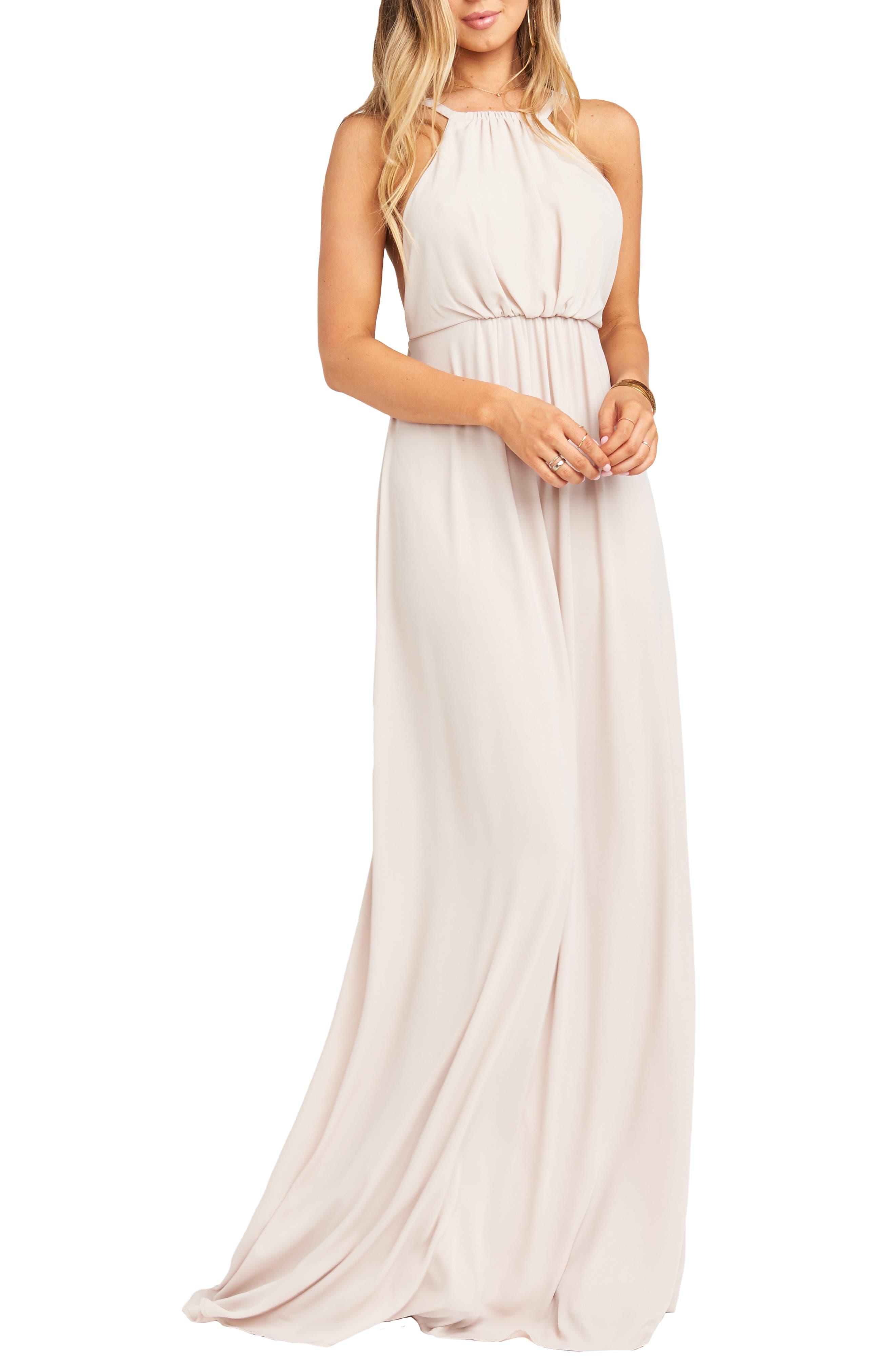 60s Wedding Dresses | 70s Wedding Dresses Womens Show Me Your Mumu Amanda Maxi Dress Size Medium - Beige $178.00 AT vintagedancer.com