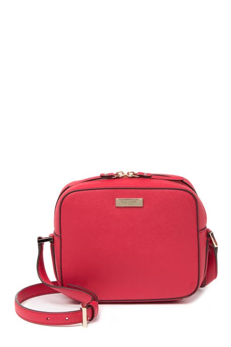 kate spade new york - leather cammie crosshatched crossbody