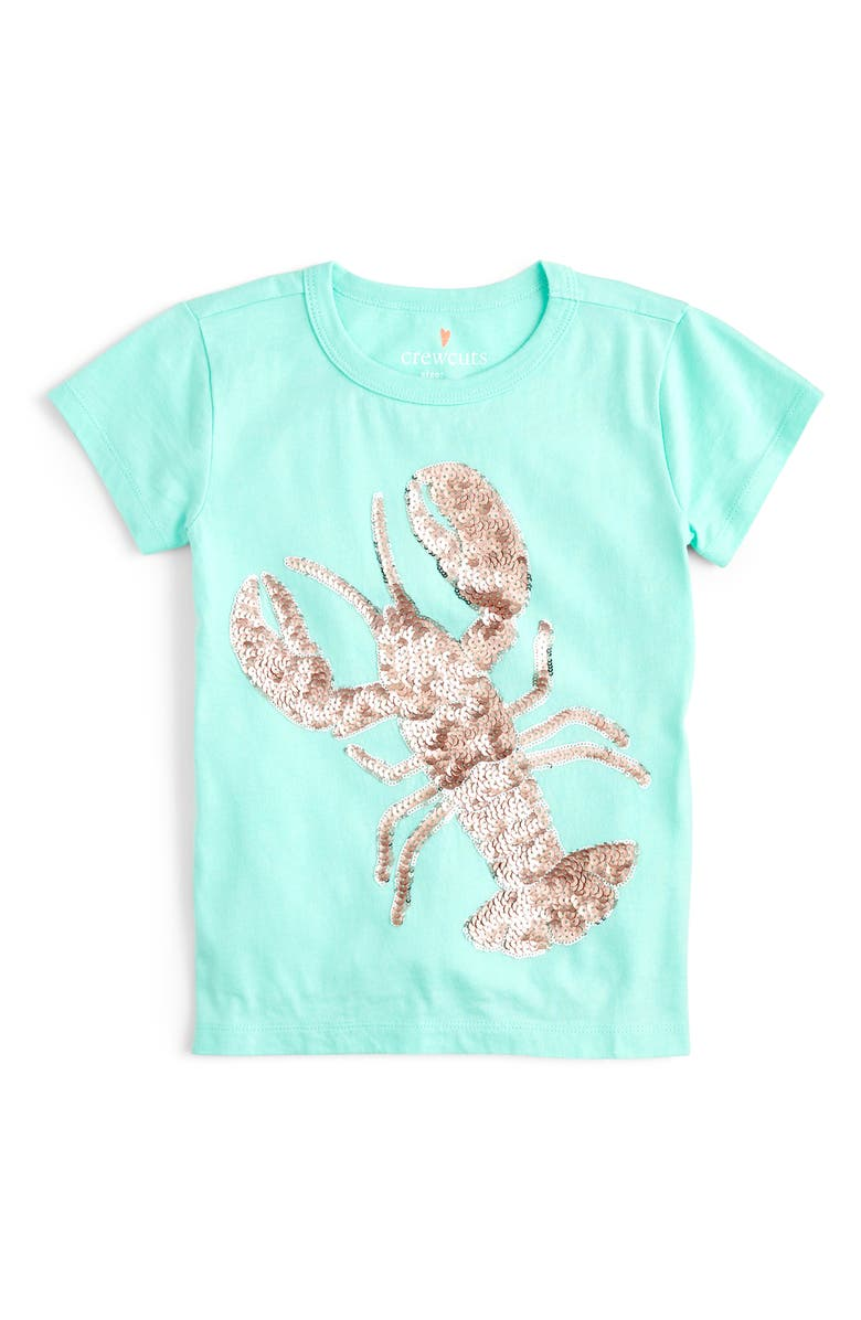 CREWCUTS BY J.CREW Sequin Lobster Tee, Main, color, 300