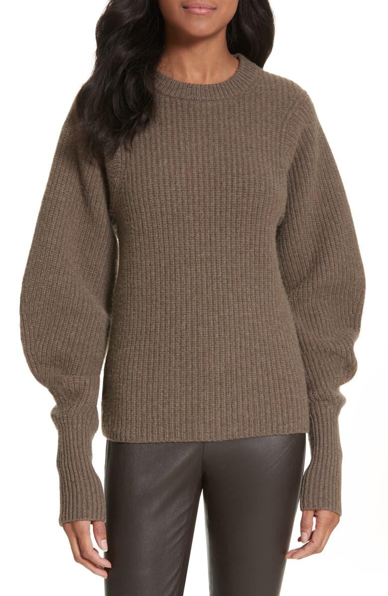 JOSEPH Blouson Sleeve Wool Sweater, Main, color, 346