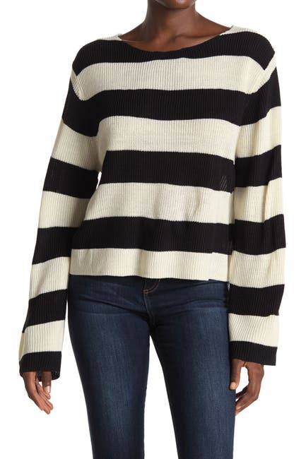 Image of Poof Striped Pullover Sweater
