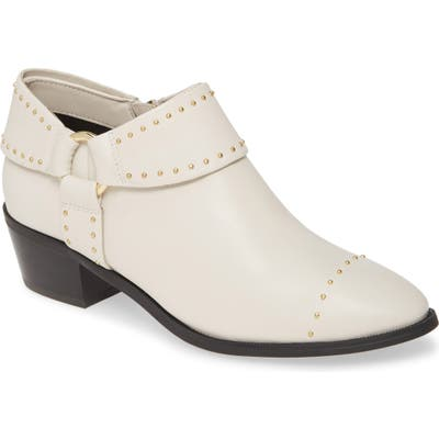 Taryn Rose Sage Leather Bootie- Ivory