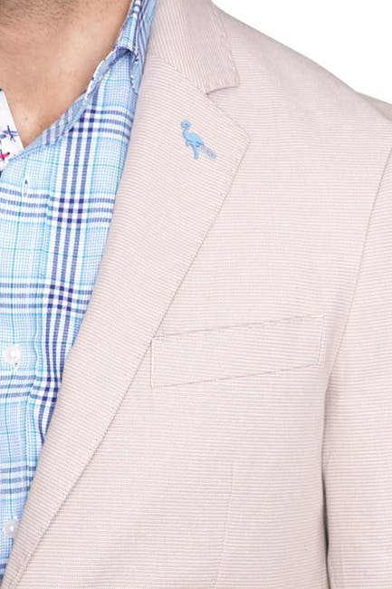 Image of TailorByrd Textured Basket Weave Two Button Notch Lapel Modern Fit Sport Coat