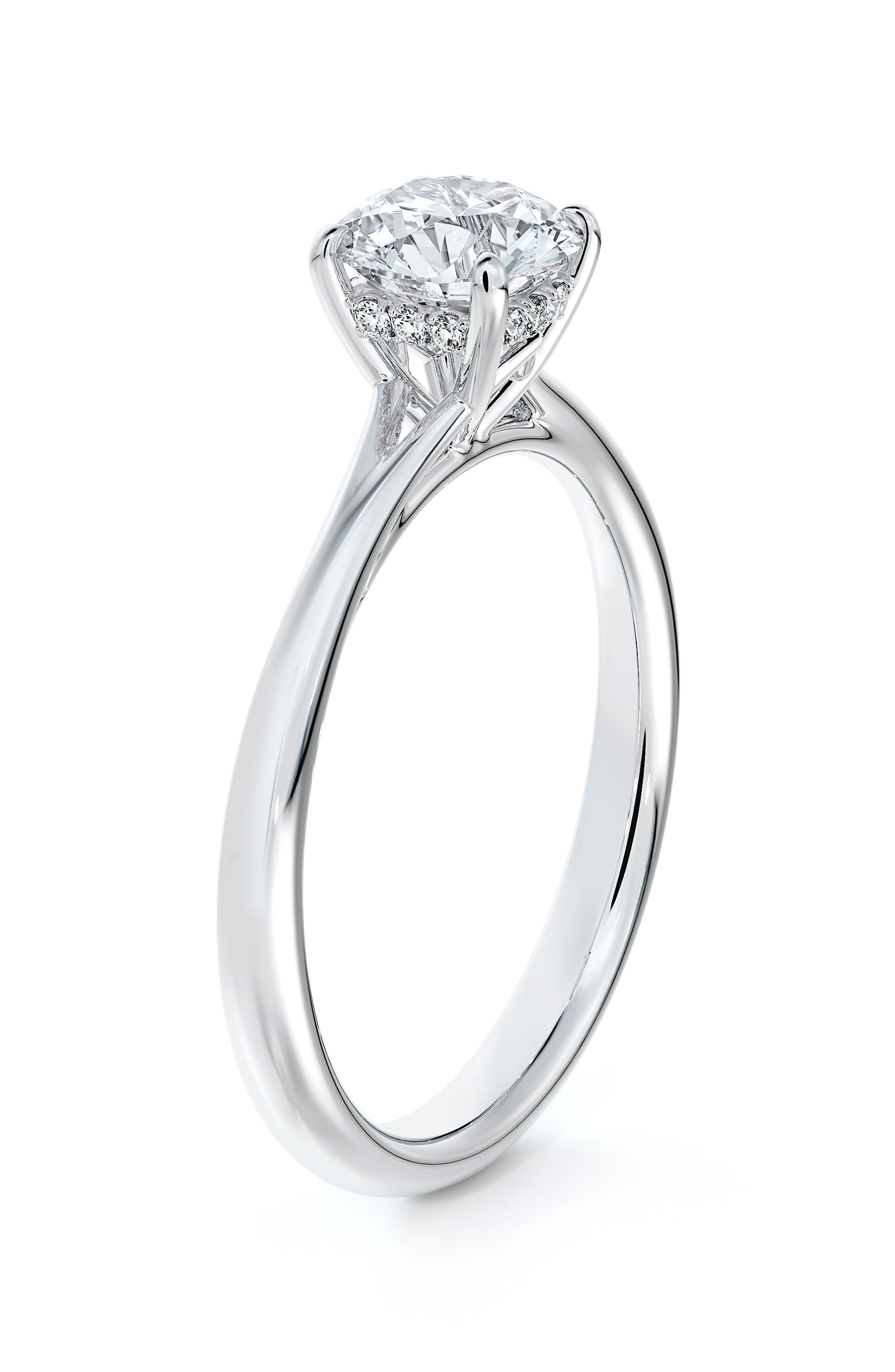 Icon(TM) Setting Round Diamond Engagement Ring