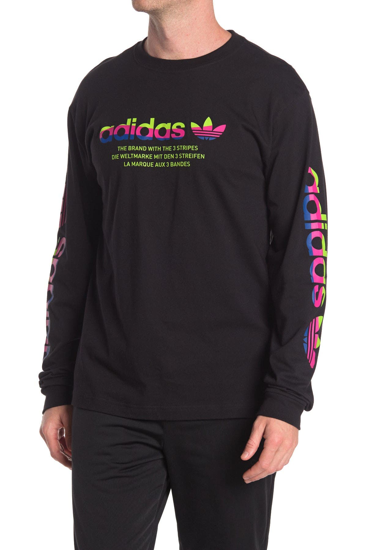Image of adidas Linear Logo Long Sleeve T-Shirt