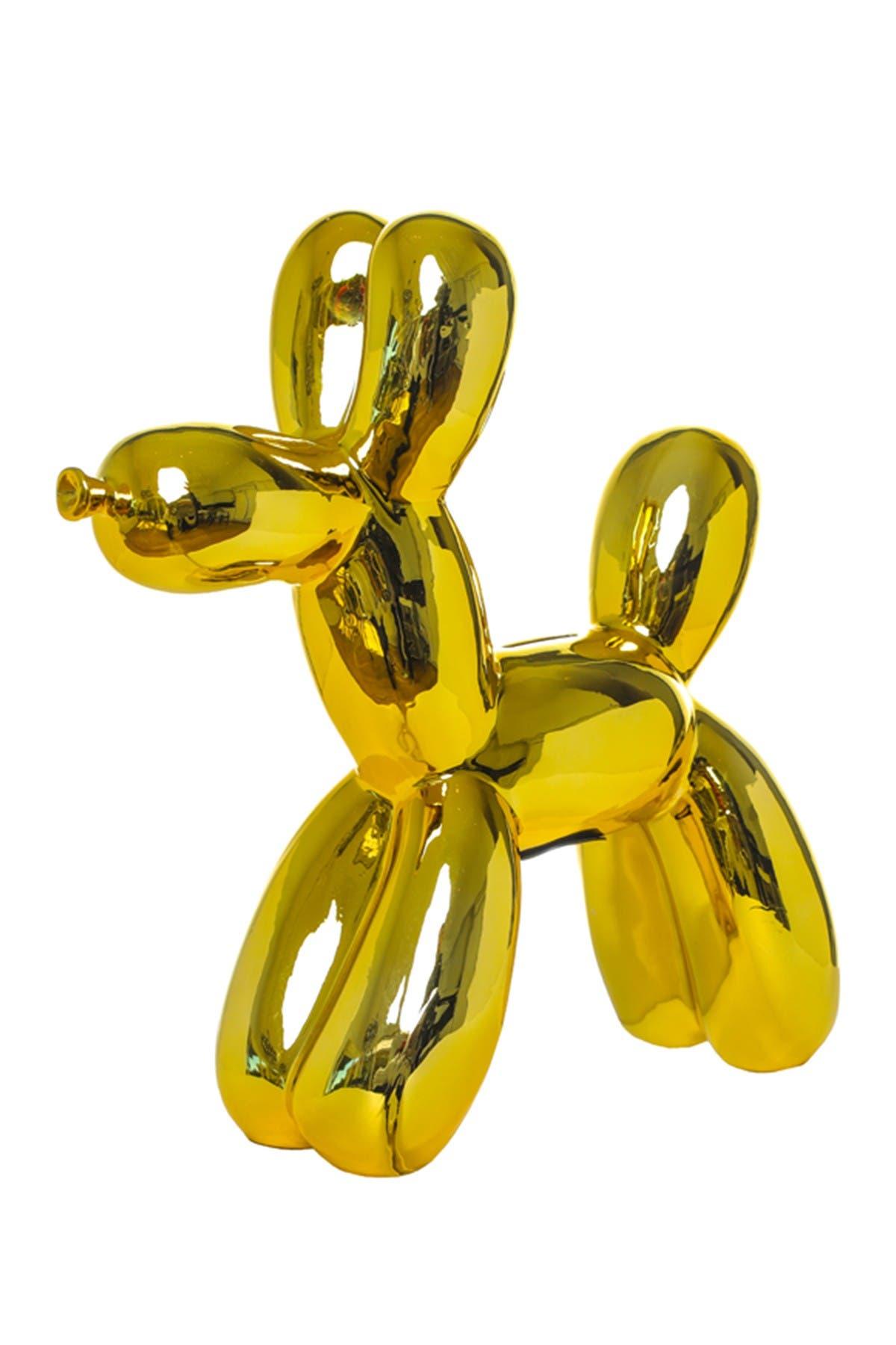 Image of Interior Illusions Plus Yellow Mini Balloon Dog Bank