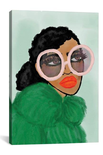 Image of iCanvas Green Coat by Bouffants & Broken Hearts