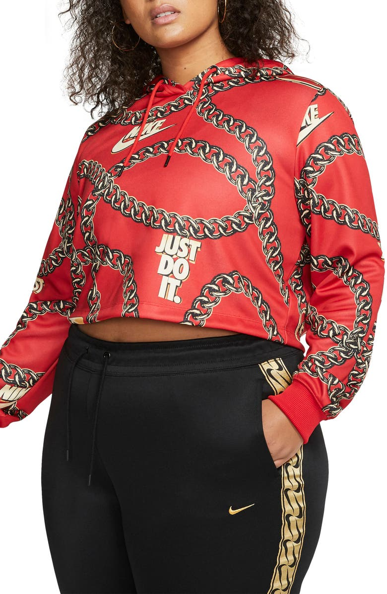 NIKE Sportswear Crop Hoodie, Main, color, 623