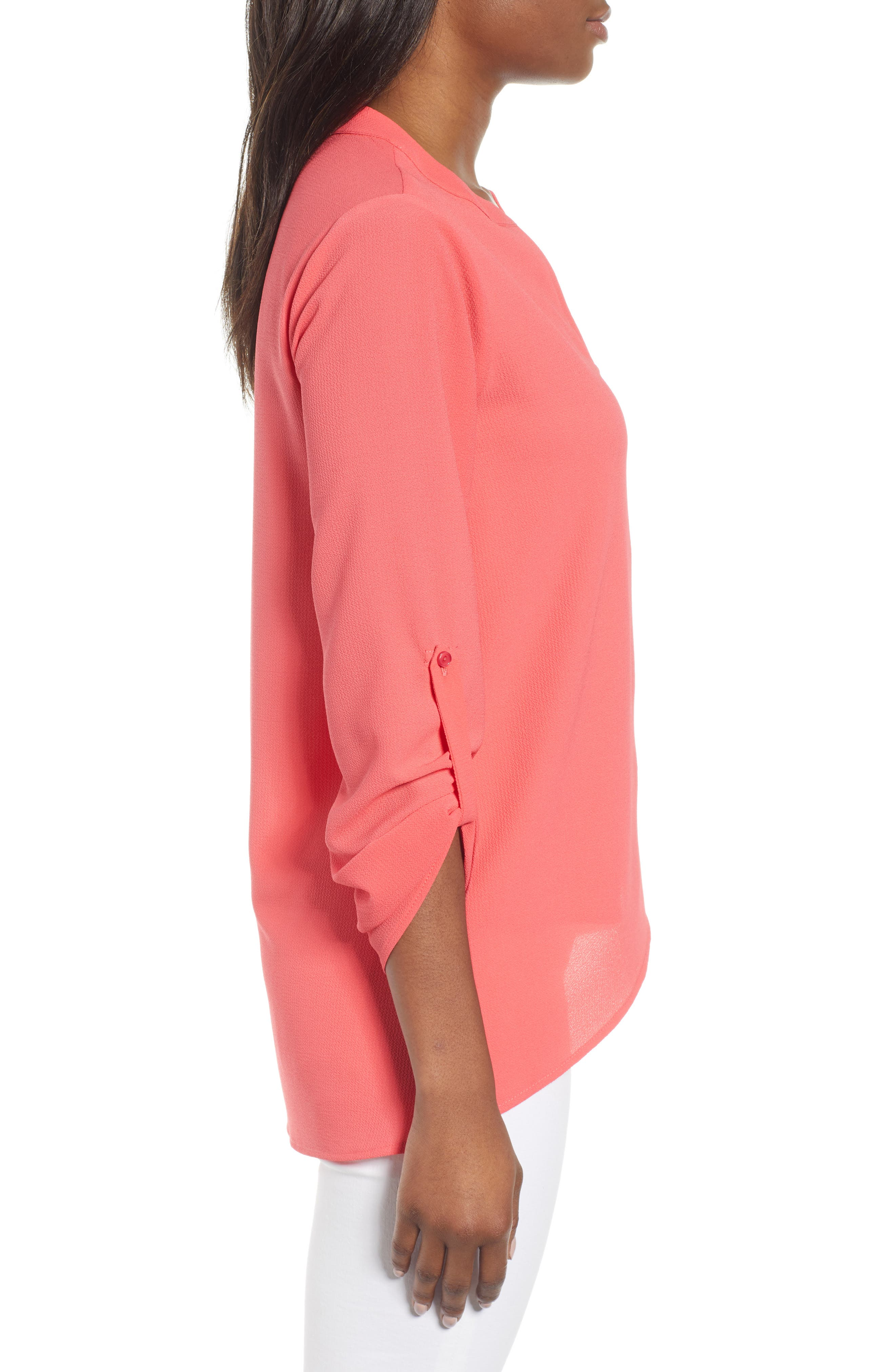 ,                             x International Women's Day Erin Cross Front Tunic Blouse,                             Alternate thumbnail 62, color,                             650