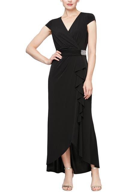 Image of SLNY Embellished Waist Maxi Dress