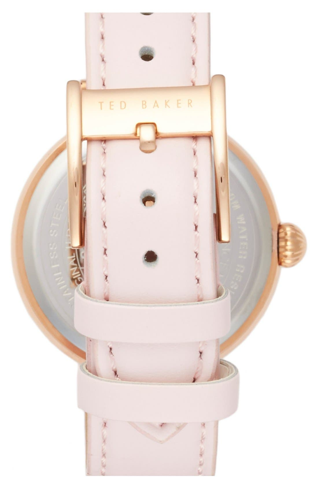 ,                             Leather Strap Watch, 36mm,                             Alternate thumbnail 5, color,                             650