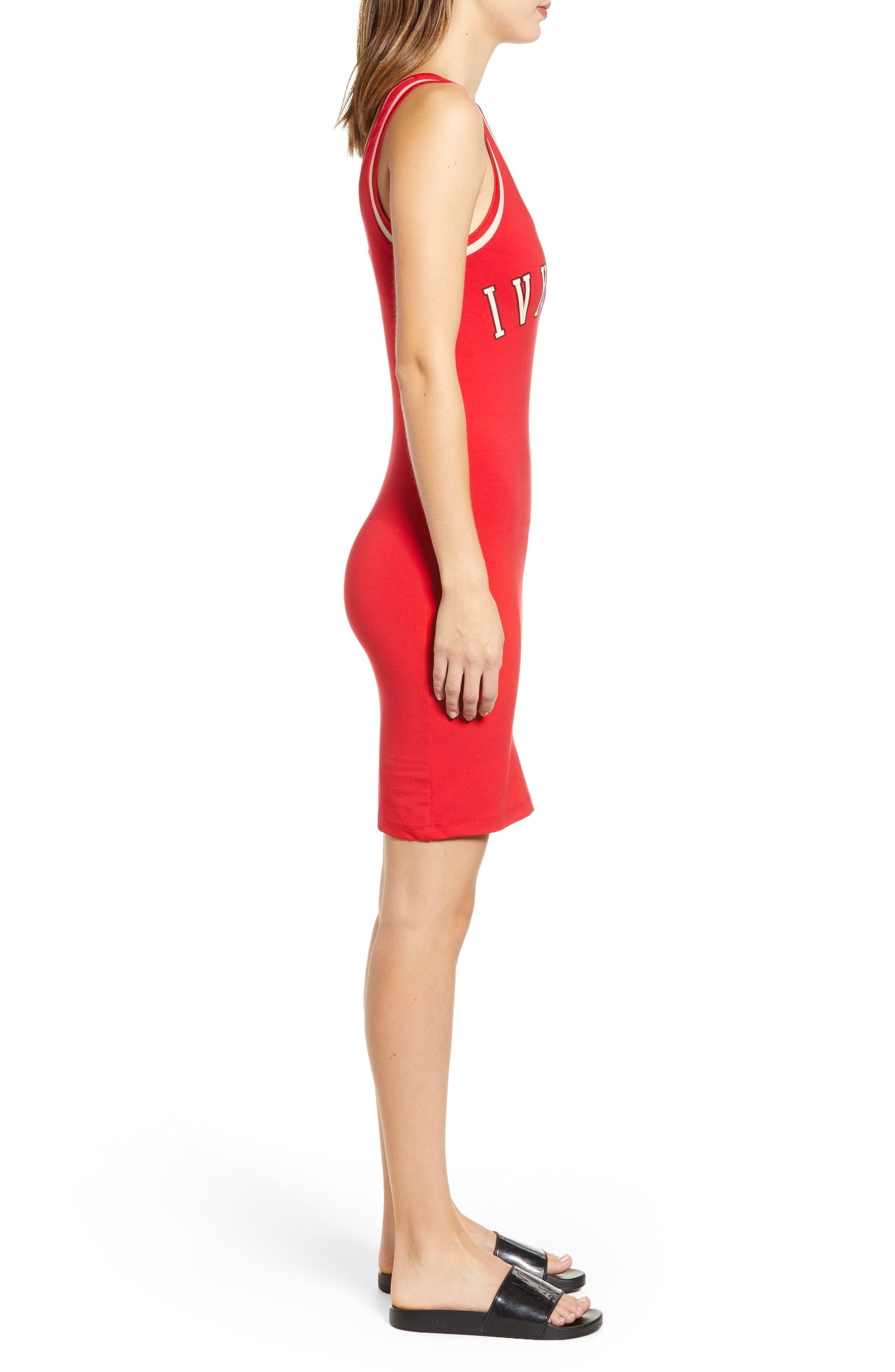 ,                             Baseball Logo Jersey Body-Con Dress,                             Alternate thumbnail 4, color,                             600