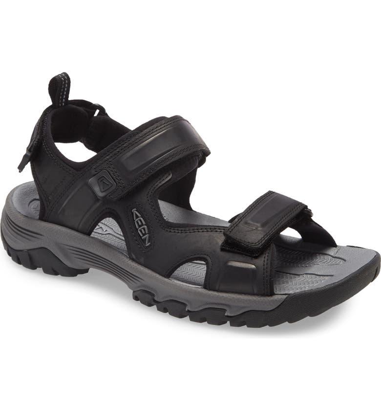 KEEN Targhee III Sandal, Main, color, BLACK/ GREY