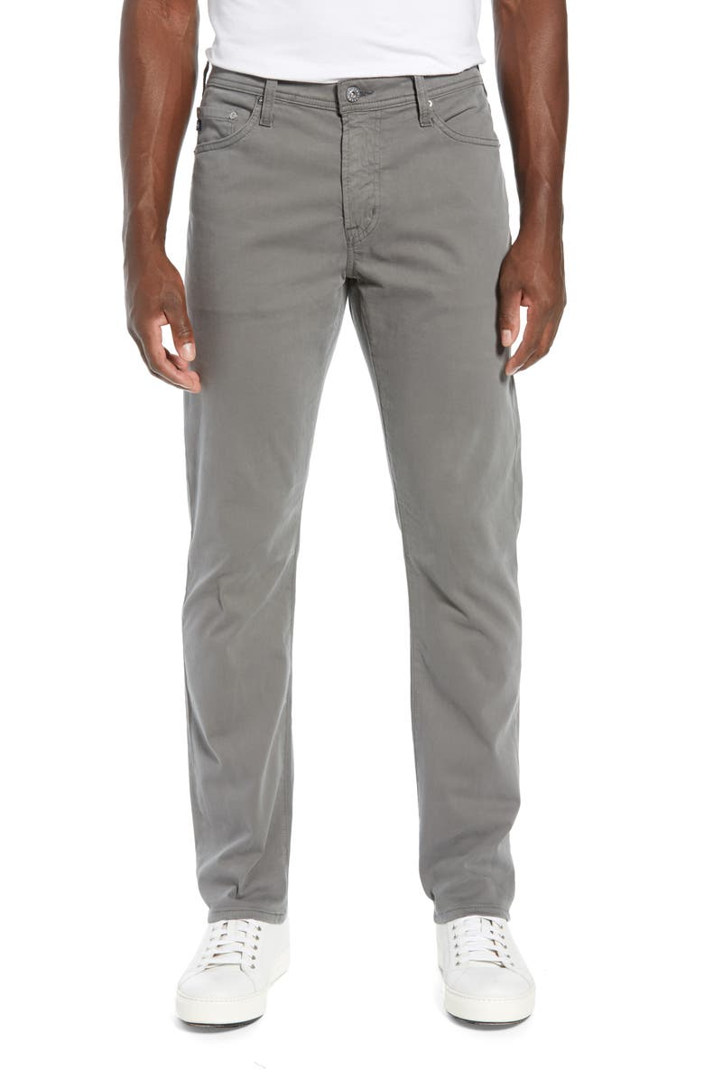 AG Everett SUD Slim Straight Fit Pants, Main, color, STONE GREY (SOY)