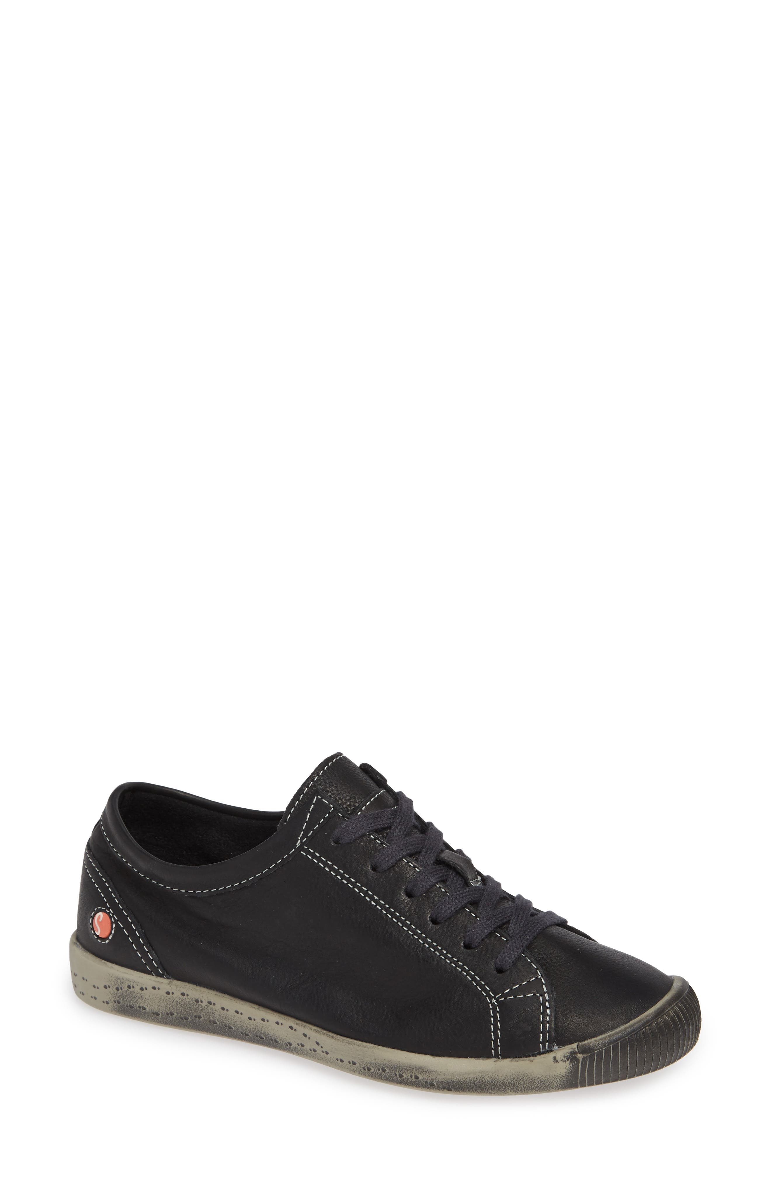 Softinos By Fly London Isla Distressed Sneaker - Black