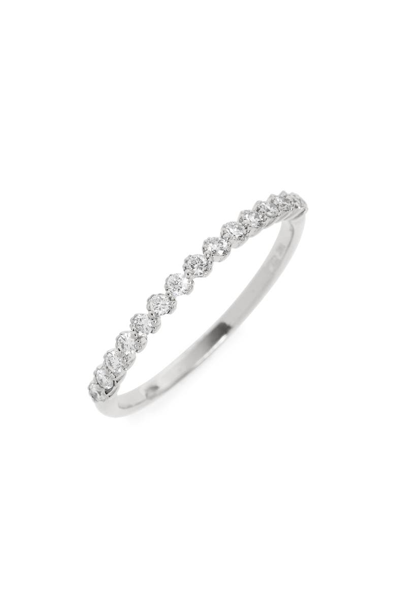 BONY LEVY Stackable Diamond Ring, Main, color, WHITE GOLD
