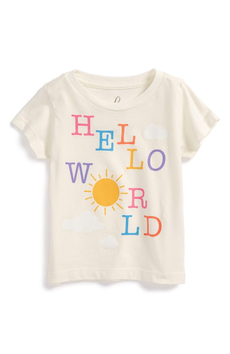PEEK AREN'T YOU CURIOUS Peek 'Hello World' Short Sleeve Tee, Main, color, 905