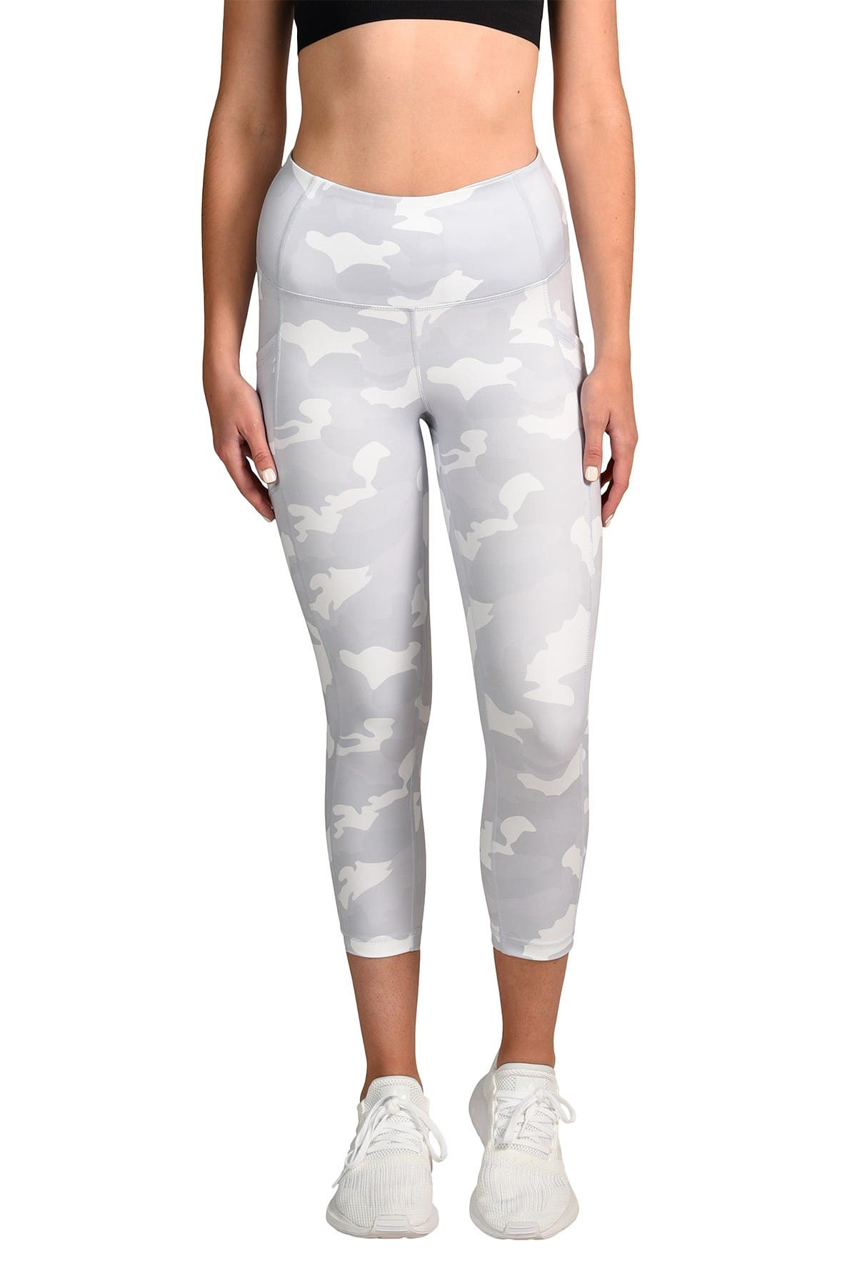 Image of 90 Degree By Reflex Lux Camo High Waist Pocket Capri Leggings