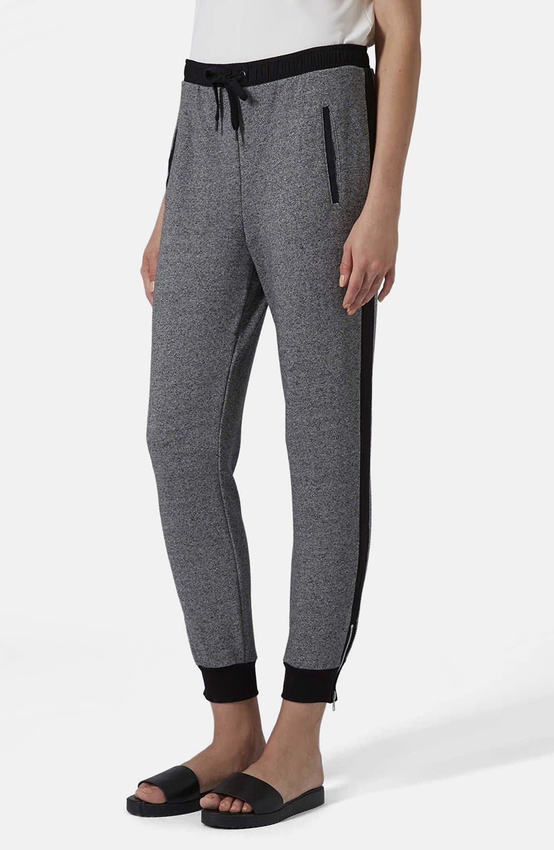 Marled Side Stripe Jogger Pants, Main, color, 020