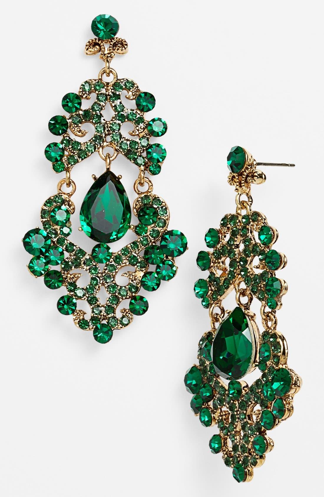 ,                             Ornate Chandelier Earrings,                             Main thumbnail 10, color,                             300