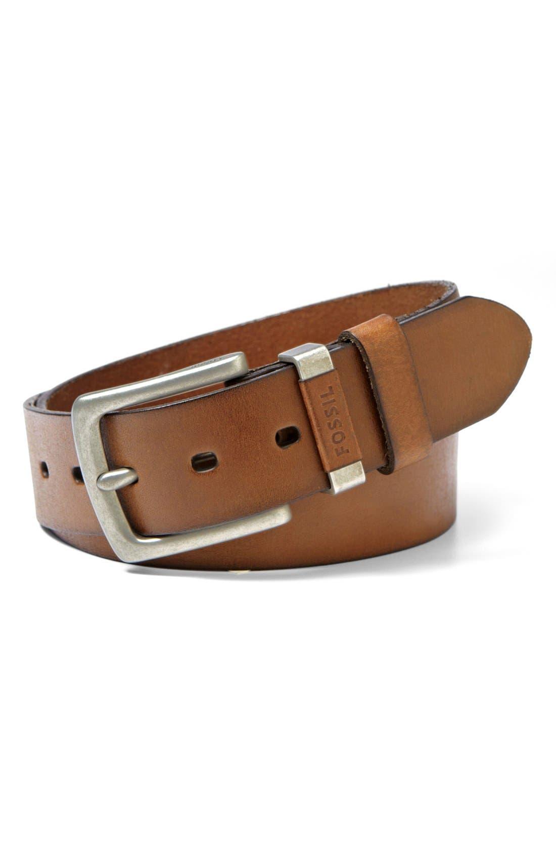 ,                             'Jay' Leather Belt,                             Main thumbnail 1, color,                             200