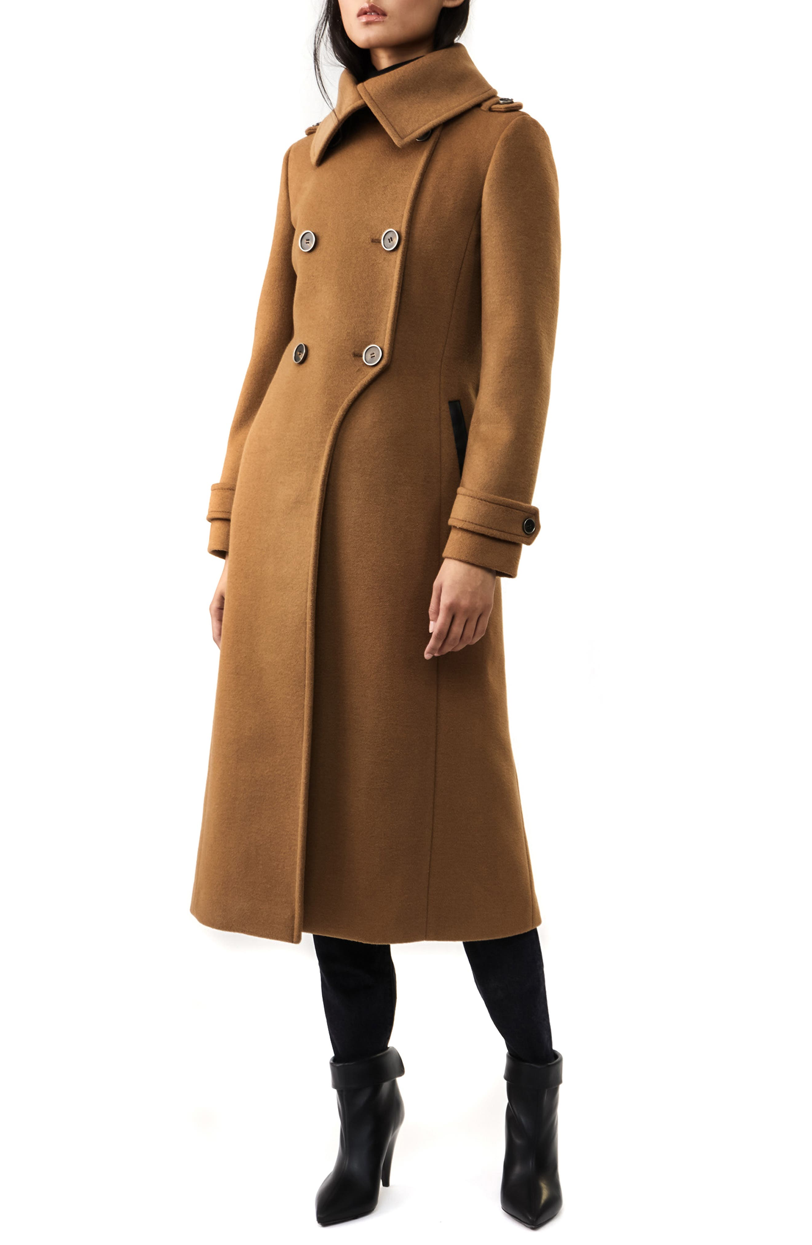 Mackage Double Breasted Wool Blend Coat