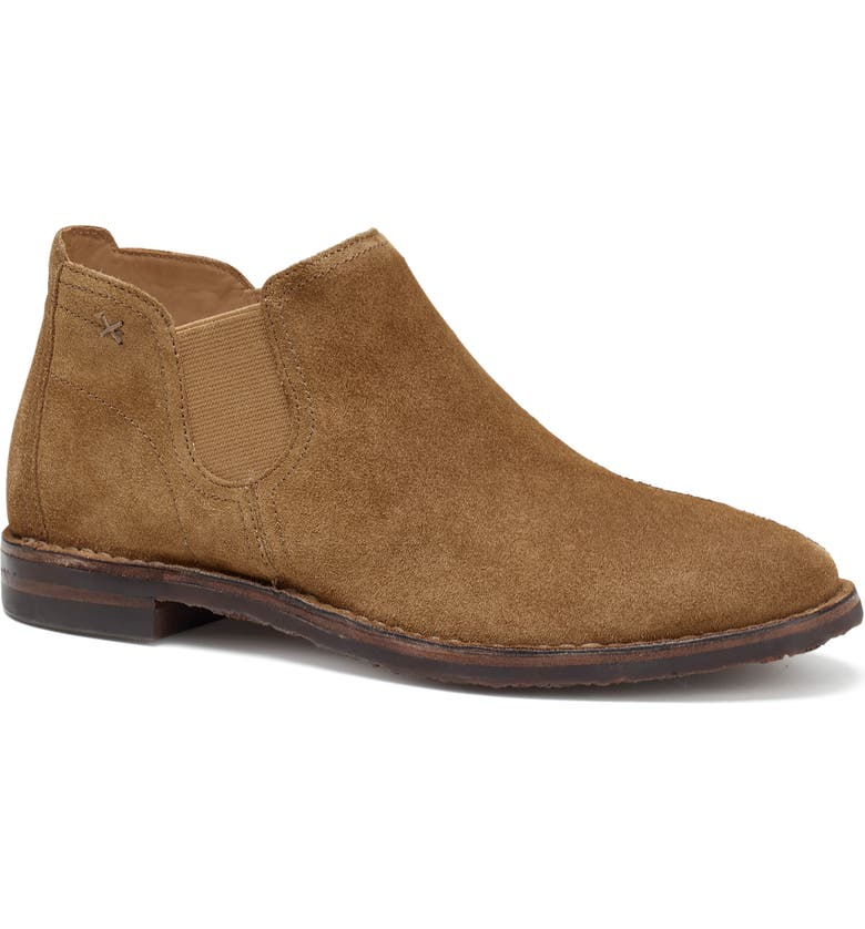 TRASK Allison Chelsea Bootie, Main, color, WHISKEY SUEDE