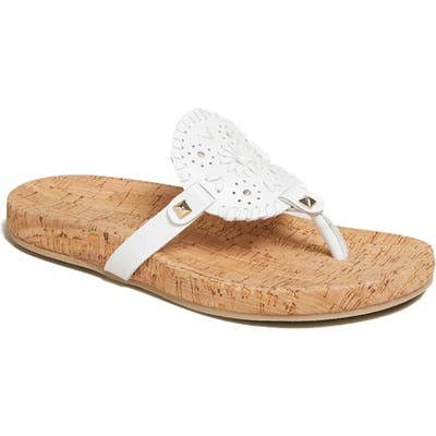 Jack Rogers Georgica Flip Flop- White