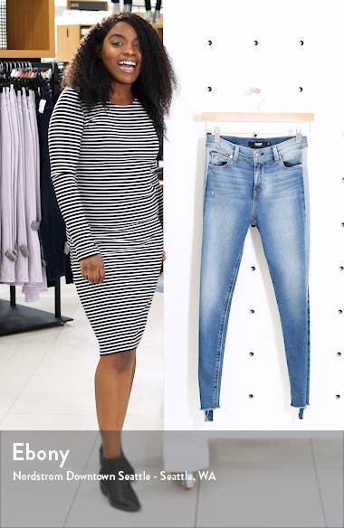 Barbara Side Stripe High Waist Ankle Skinny Jeans, sales video thumbnail