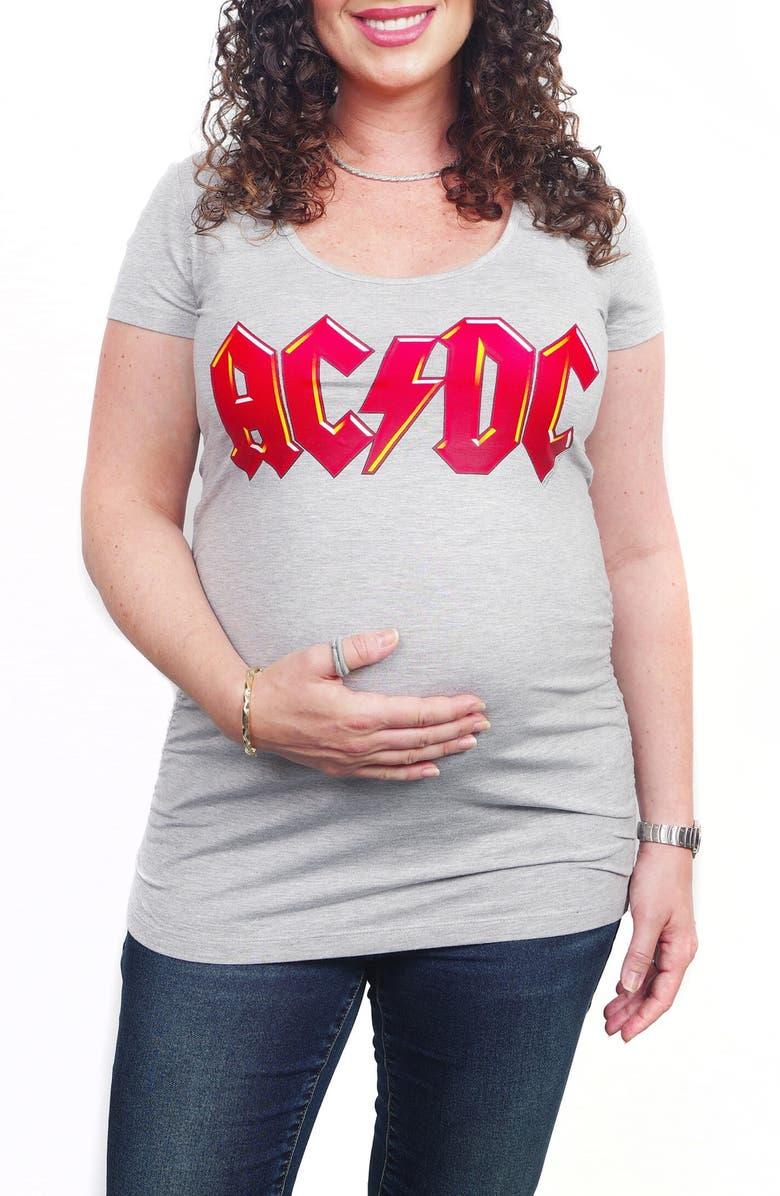 VIP MAMA AC/DC Maternity Graphic Tee, Main, color, 020