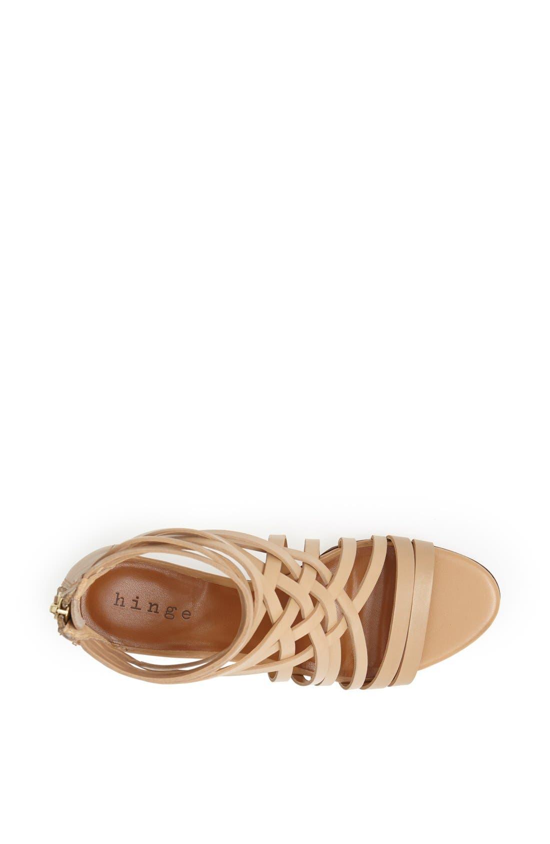 ,                             'Neta' Leather Wedge Sandal,                             Alternate thumbnail 19, color,                             252