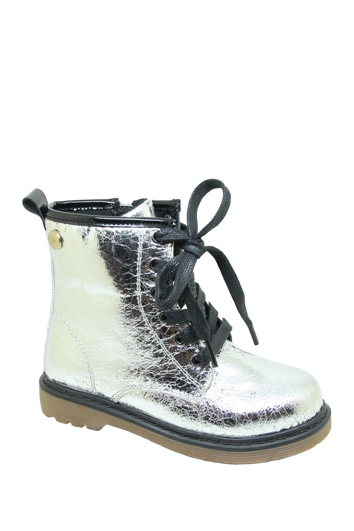 Image of Nicole Miller Metallic Lace-Up Boot