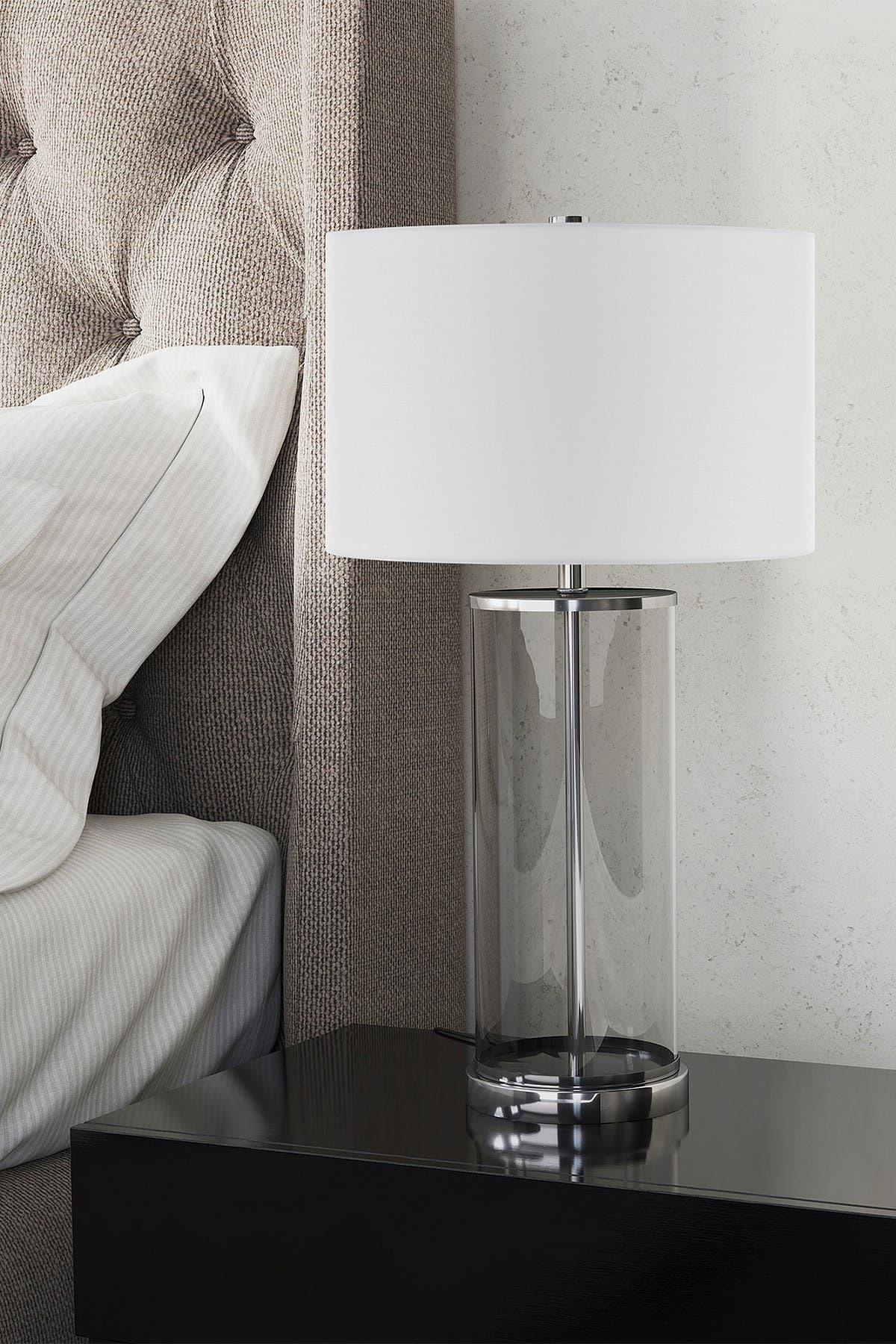 Image of Addison and Lane Rowan Table Lamp     Glass/Nickel