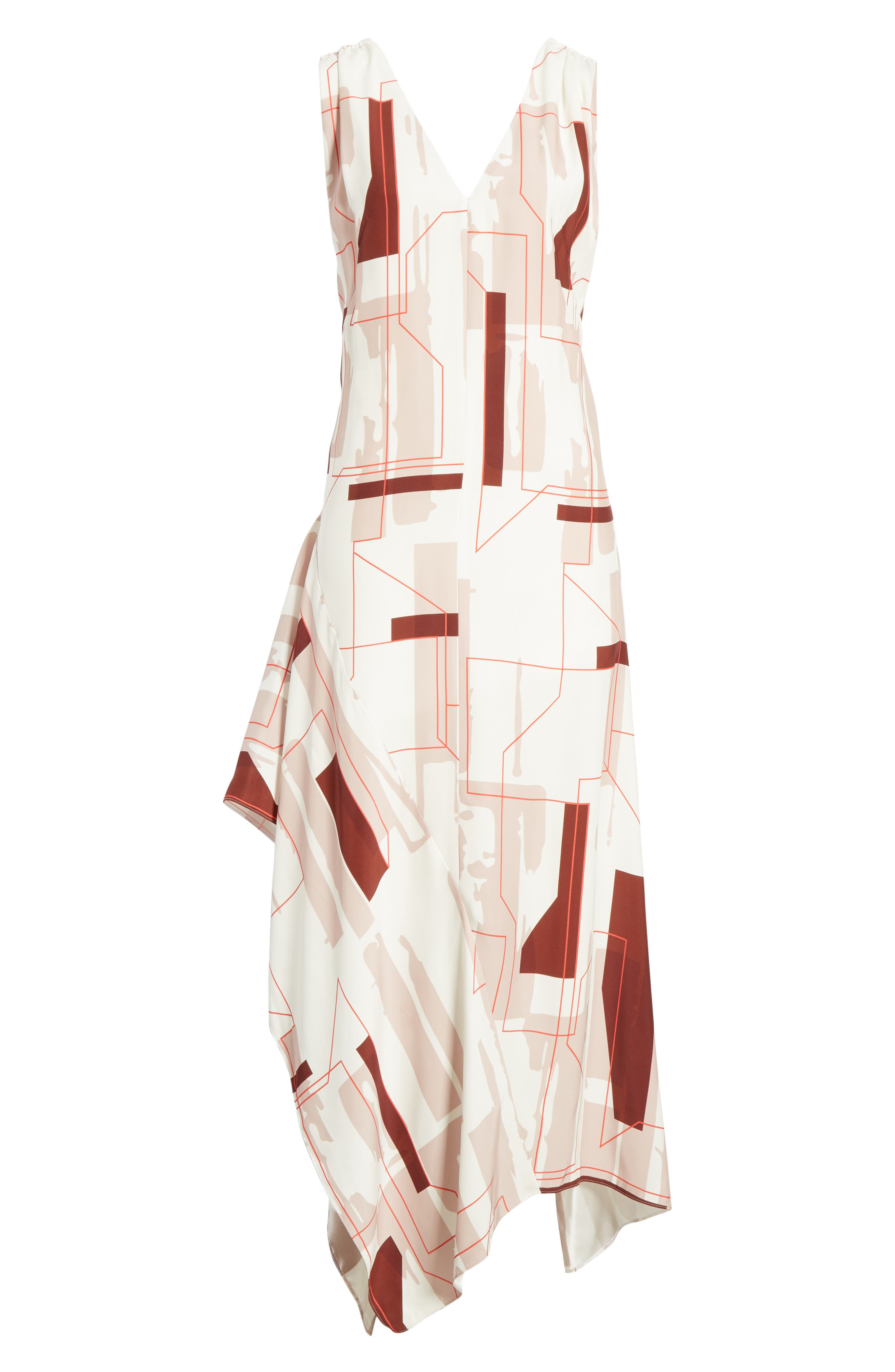 ,                             Dimapy Print Dress,                             Alternate thumbnail 6, color,                             MAP PRINT ADOBE ROSE