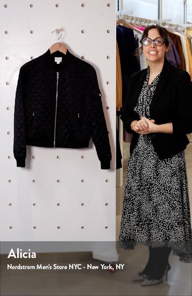 The Dierdre Quilted Bomber Jacket, sales video thumbnail