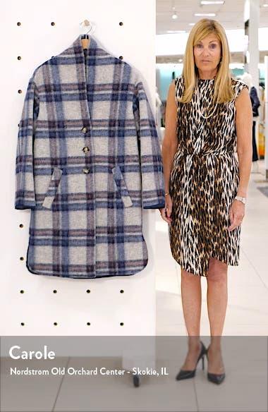 Gabriel Plaid Wool Blend Coat, sales video thumbnail