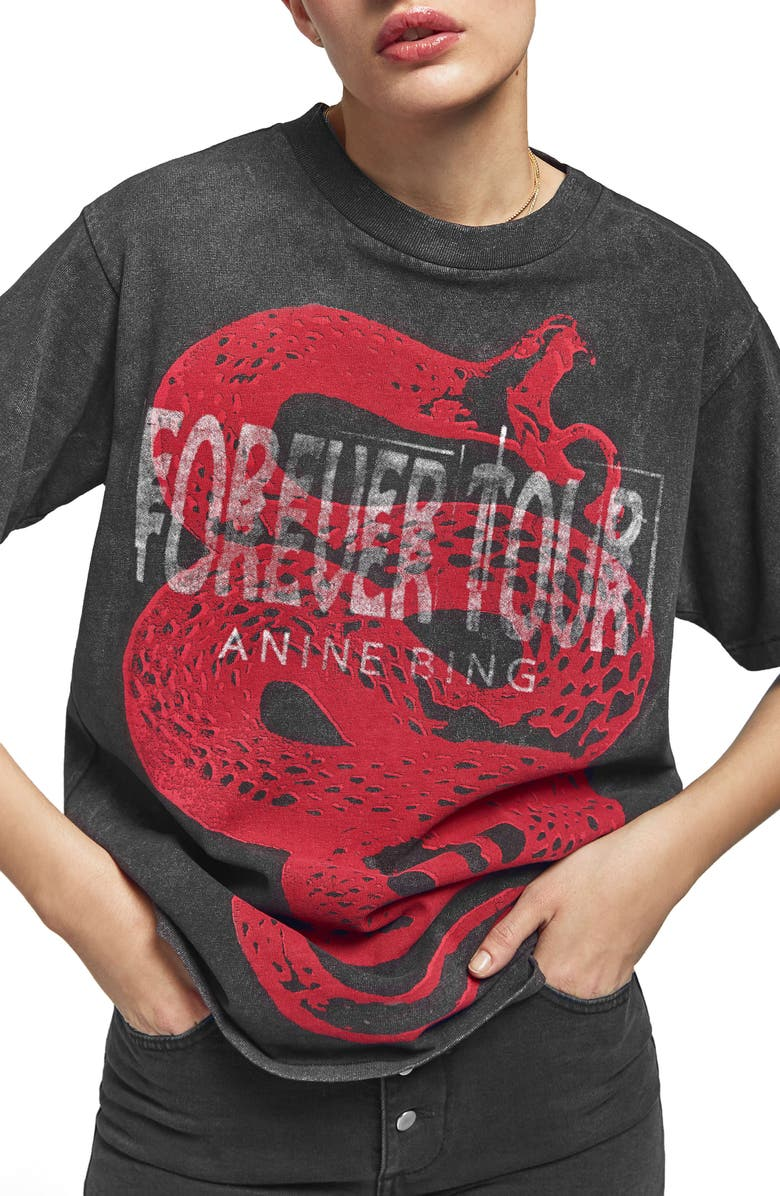 ANINE BING Forever Tour Tee, Main, color, 008