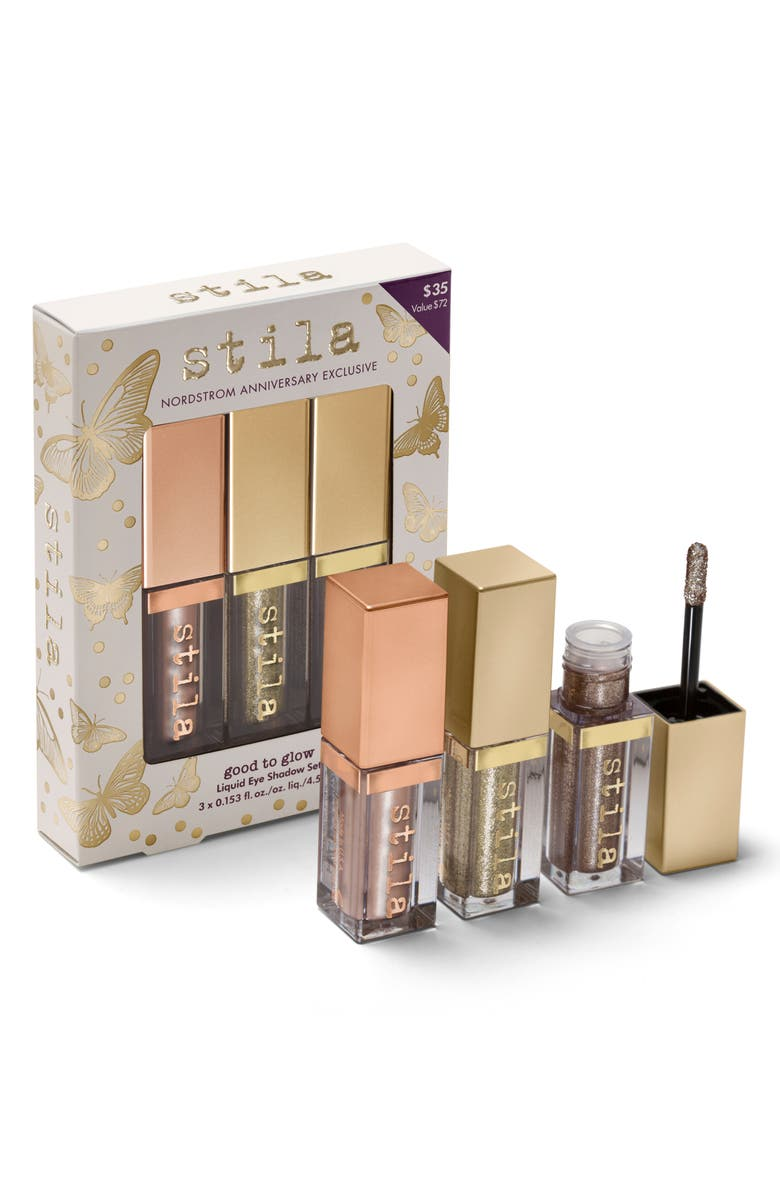 STILA Good to Glow Liquid Eyeshadow Set, Main, color, 000