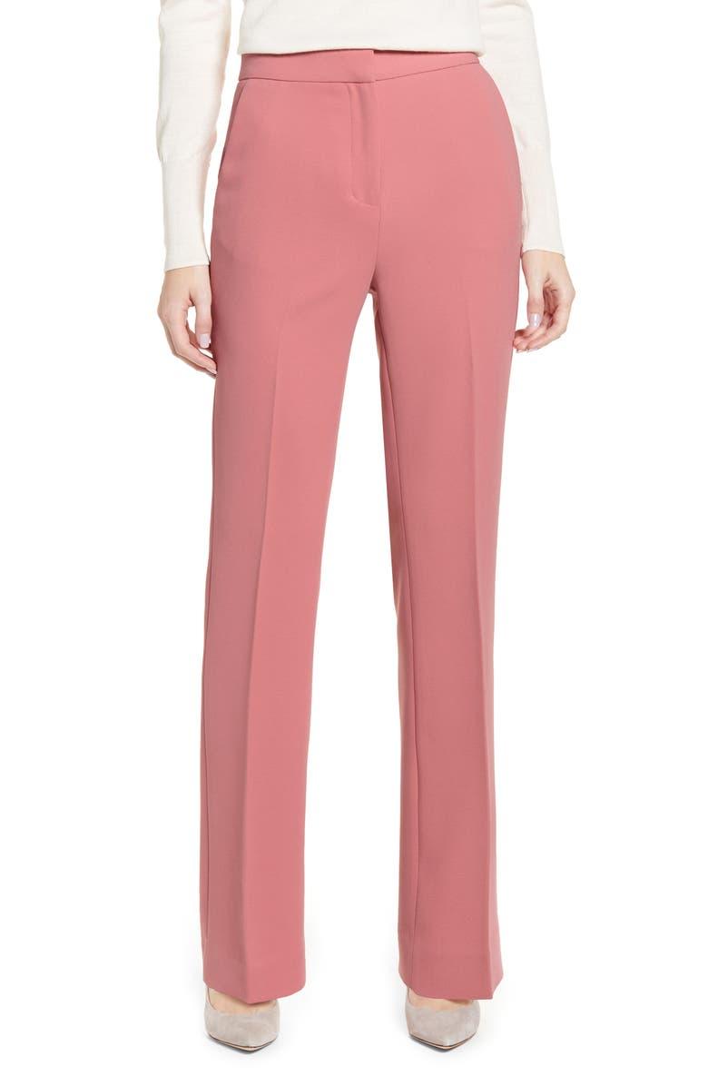 RACHEL PARCELL Wide Leg Suit Pants, Main, color, PINK COMPACT