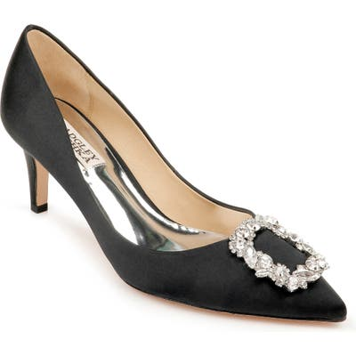 Badgley Mischka Carrie Crystal Embellished Pump- Black