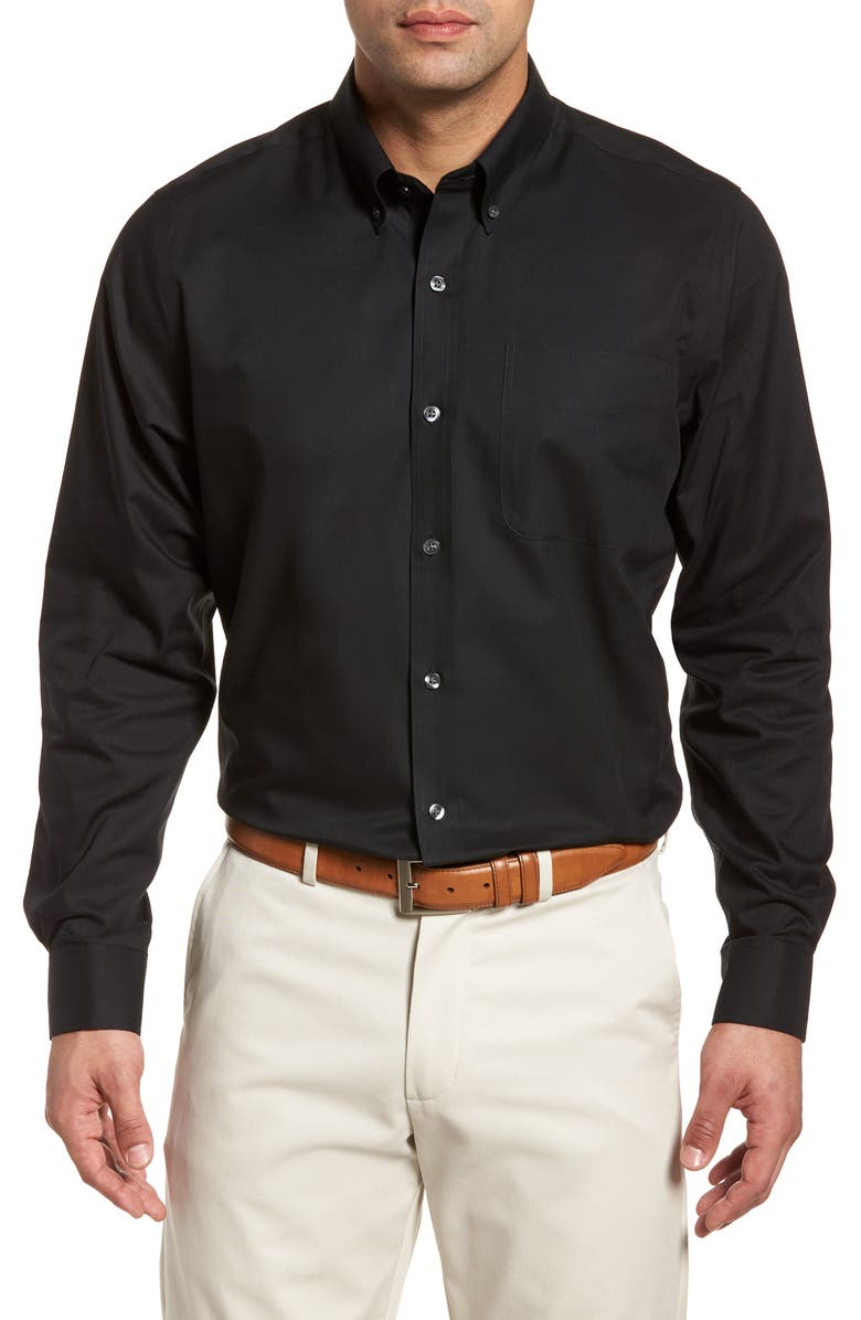 CUTTER & BUCK Classic Fit Sport Shirt, Main, color, 001