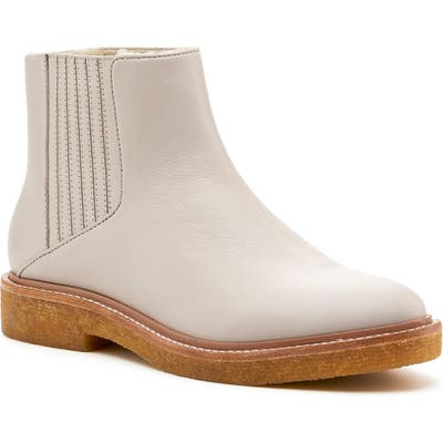 Botkier Chelsea Faux Shearling Lined Boot, White