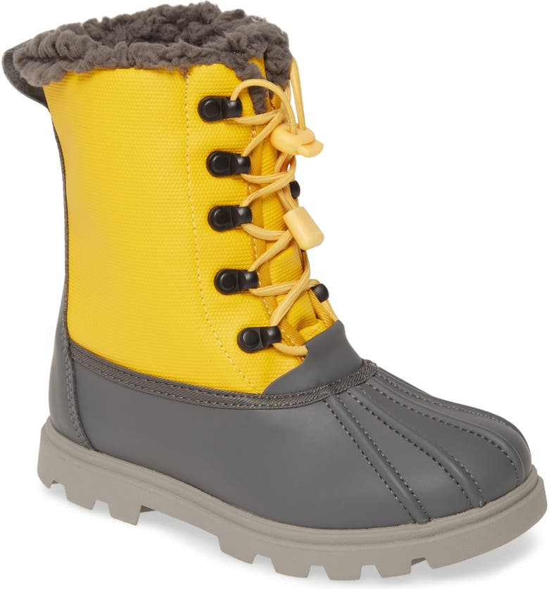 NATIVE SHOES Native Jimmy 3.0 Treklite Water Resistant Boot, Main, color, DUBLIN GREY/ YELLOW/ GREY