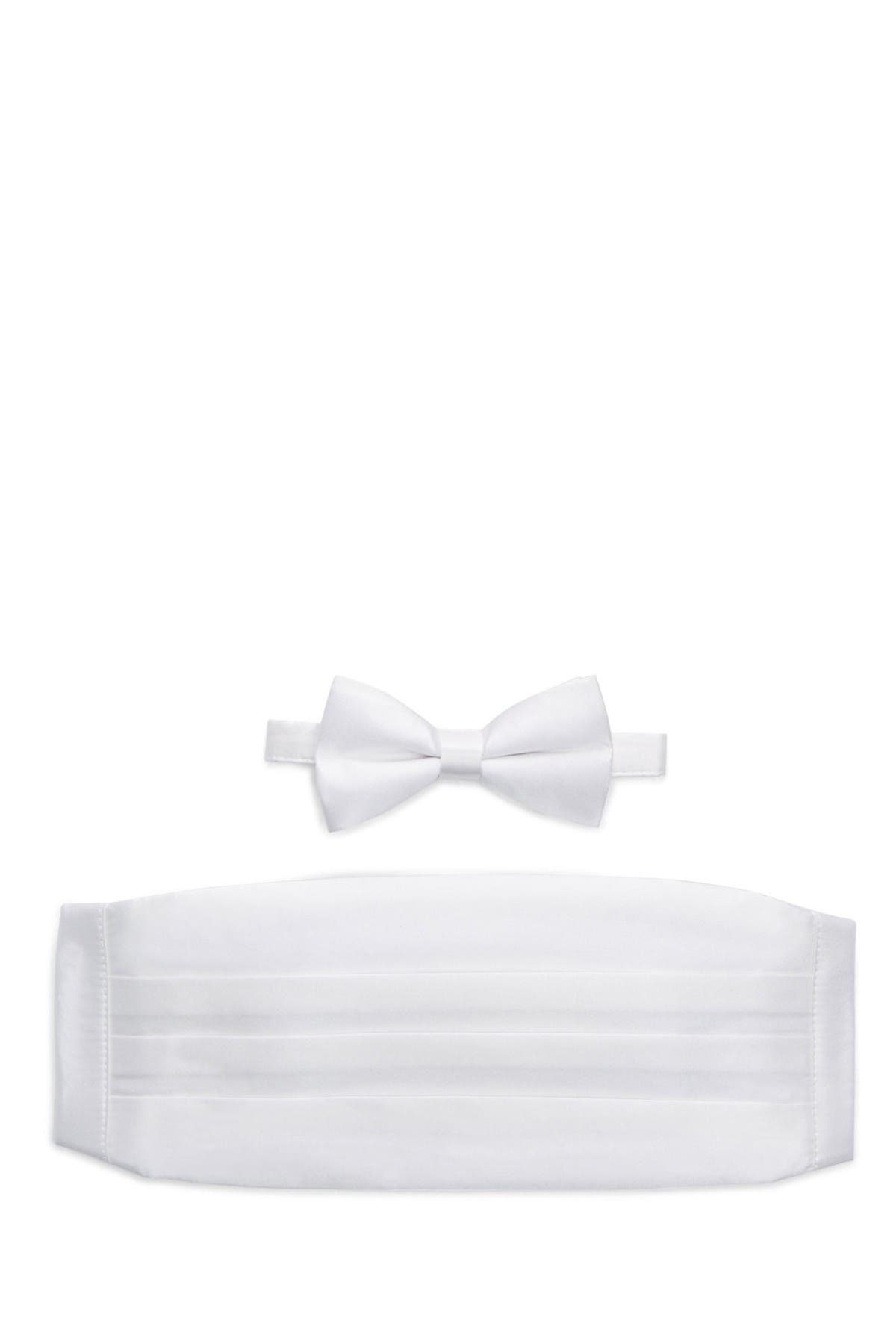 Image of Michelson's Silk Satin Bow Tie & Cummerbund