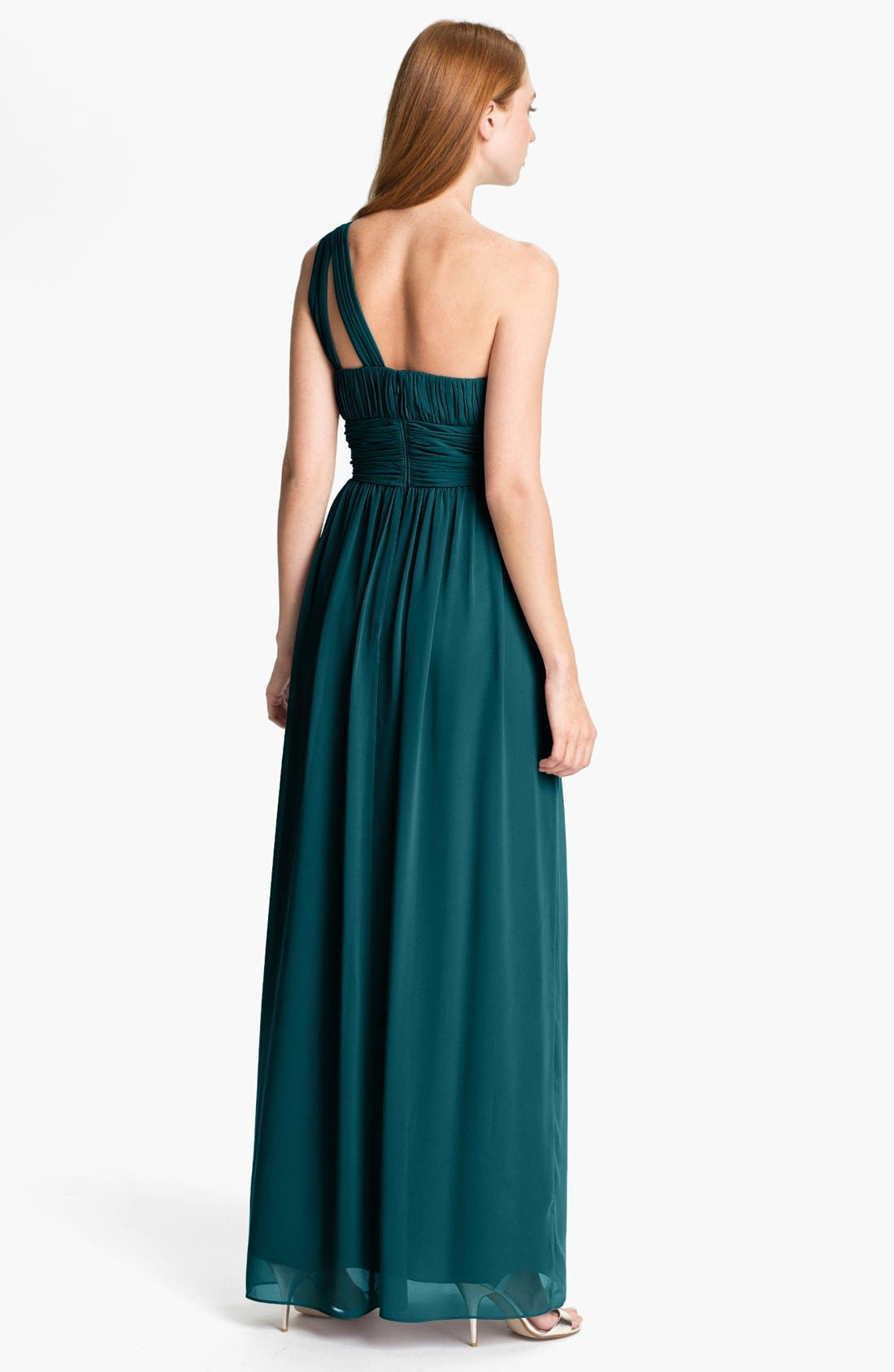 ,                             'Rachel' Ruched One-Shoulder Chiffon Gown,                             Alternate thumbnail 49, color,                             324
