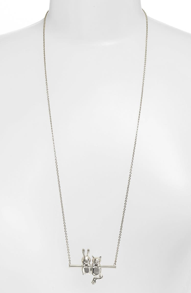 MARC BY MARC JACOBS 'Dynamite - Rue & Bunny' Pendant Necklace, Main, color, 040