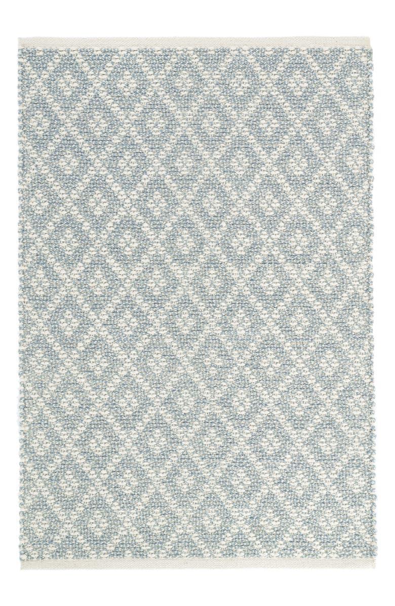 Albert Marled Diamond Woven Cotton Rug