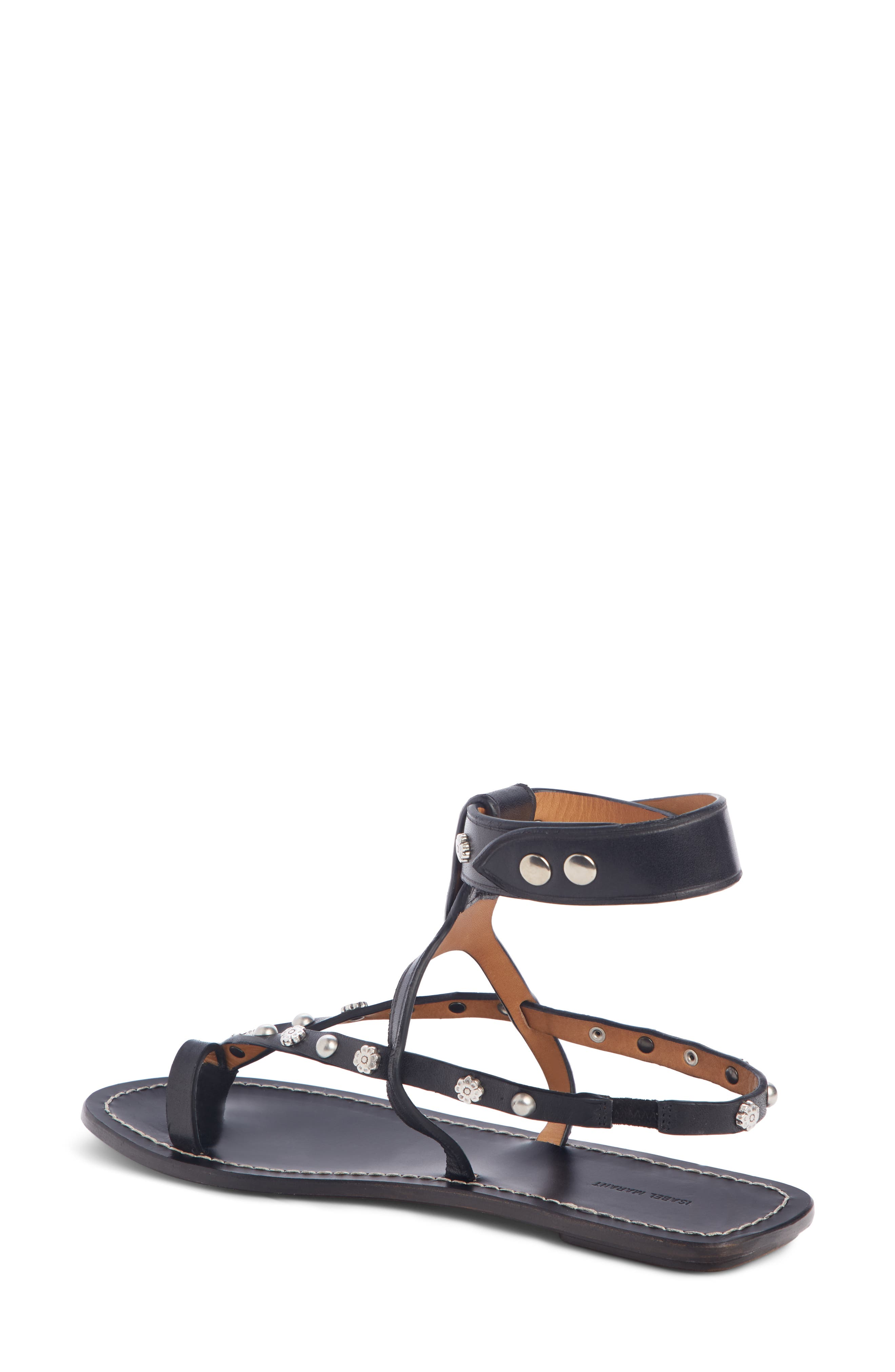 ,                             Engo Flower Studded Gladiator Sandal,                             Alternate thumbnail 2, color,                             001
