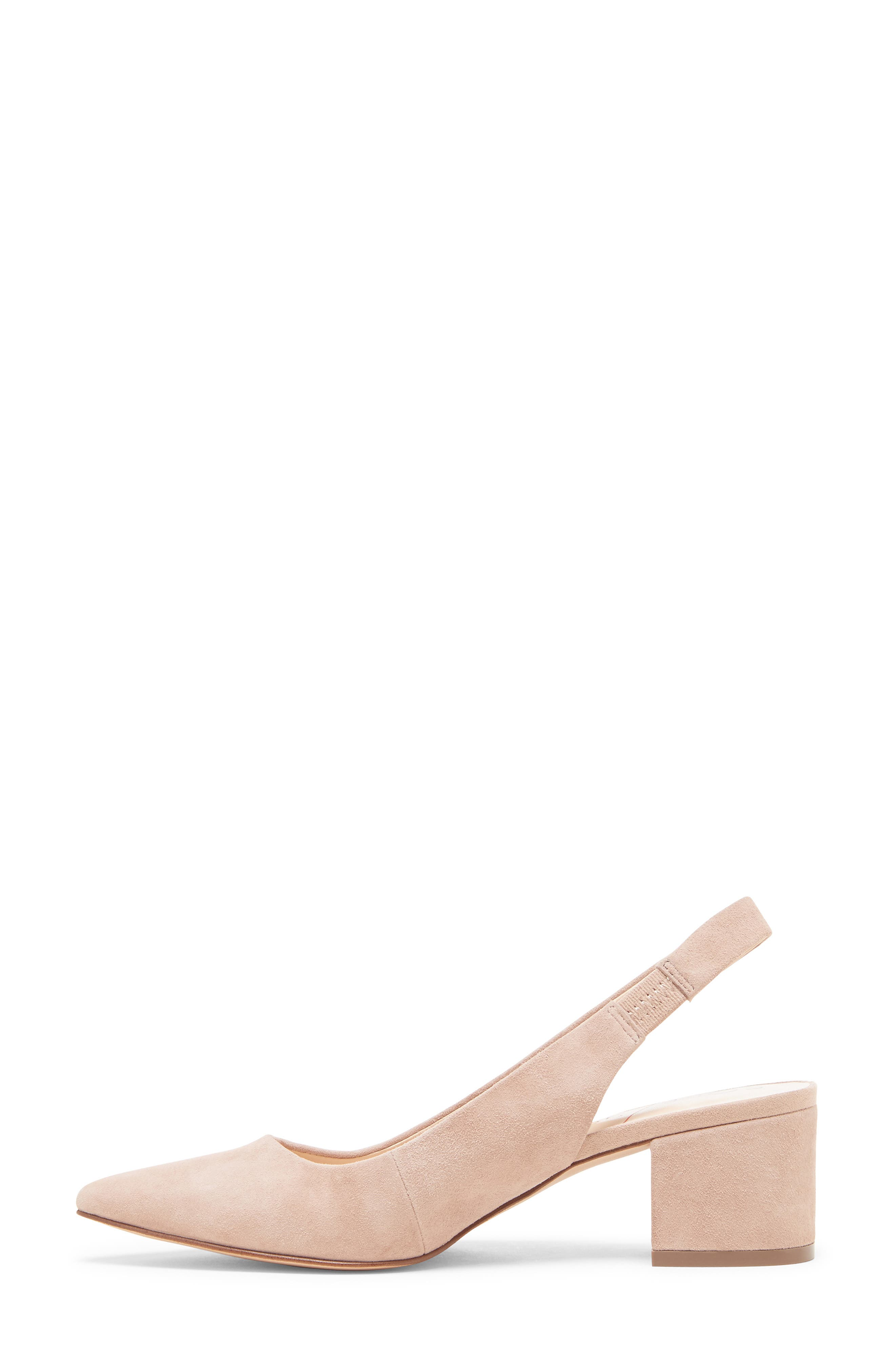 ,                             Keilinah Slingback Pointy Toe Pump,                             Alternate thumbnail 8, color,                             DUSTY ROSE SUEDE