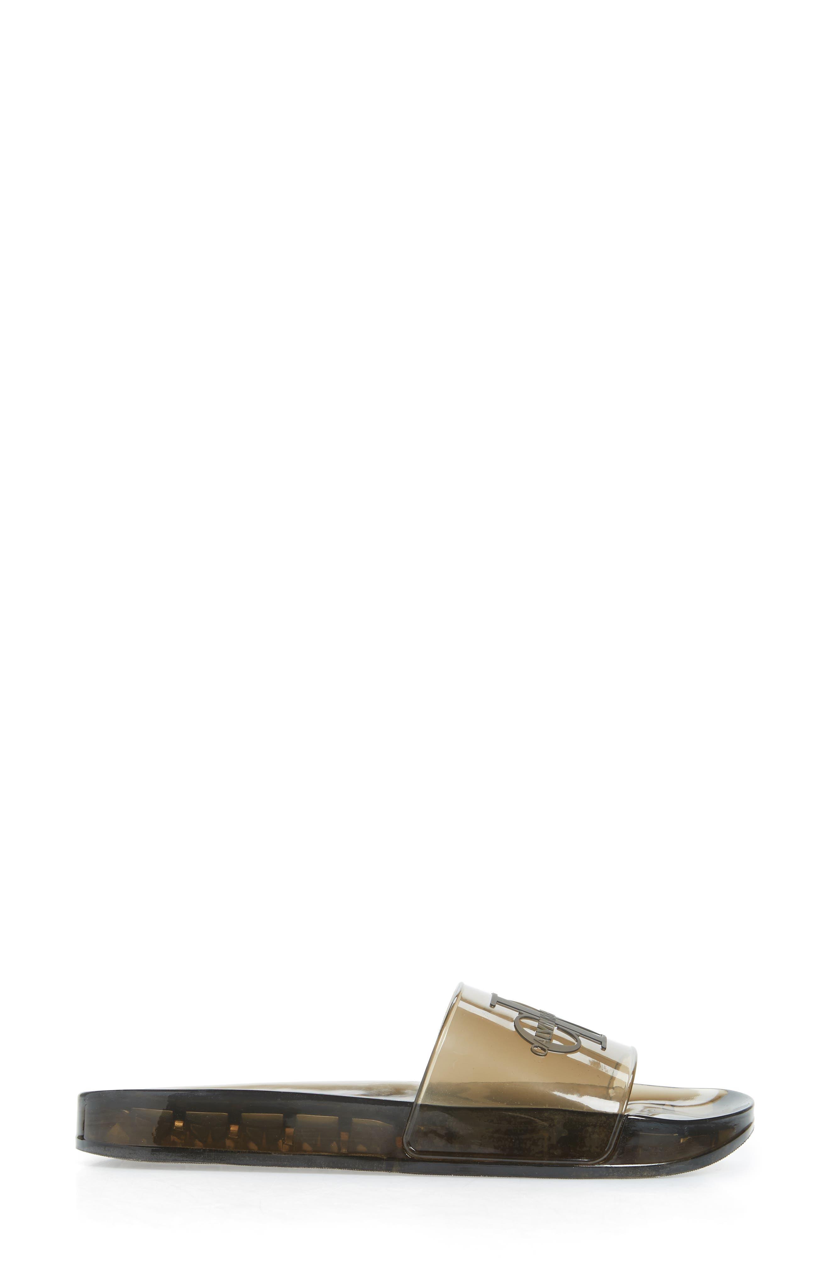 ,                             Elva Translucent Sport Slide,                             Alternate thumbnail 3, color,                             SMOKE RUBBER